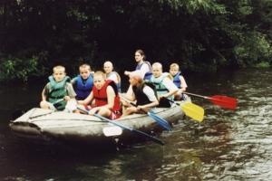 Sjíždění řeky Ohře 2002